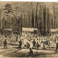 Scene on Jerusalem Plank Road during the Siege of Petersburg