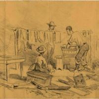 "An Army ""Washerwoman"" during the Siege of Petersburg"